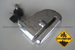 Zámek na kotouč s alarmem - čep 7mm